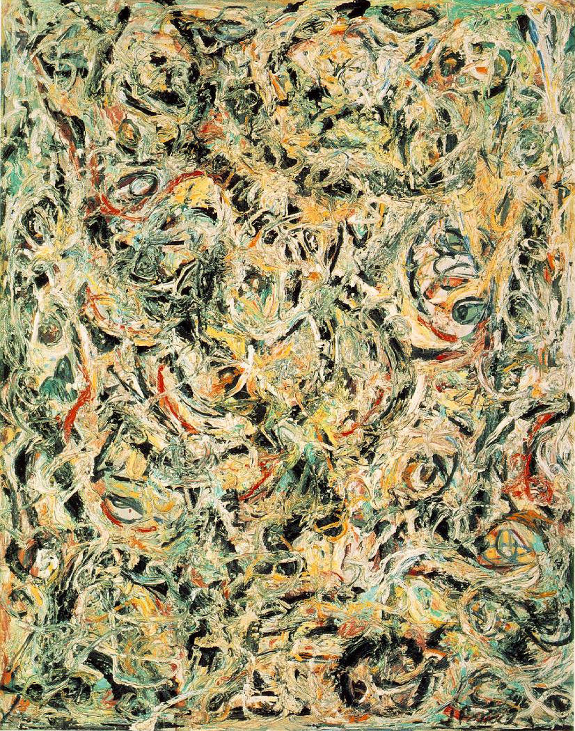 Jackson Pollock, Eyes in the Heat.huile sur toile, 1946, Collection Peggy Guggenheim, Venise, Italie