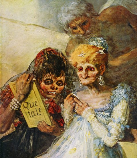 Francisco de Goya, La viejas (détail), huile sur toile, 1810-12, Palais des Beaux-Arts, Lille, France
