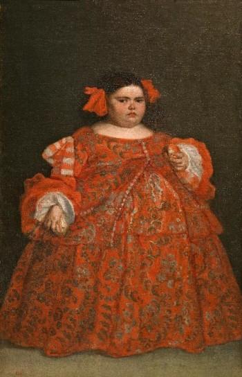 Juan Carreño de Miranda, Eugenia Martinez Vallejo, La Monstrua vêtue, huile sur toile, c. 1680, Musée National du Prado, Madrid, Espagne