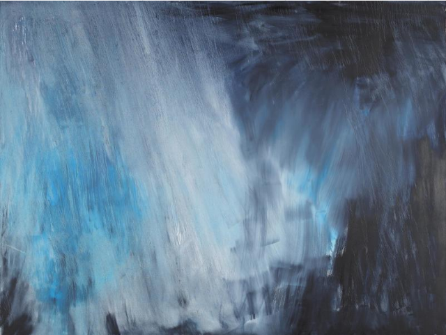 Herbert Brandl, Ohne Titel, huile sur toile, 2007