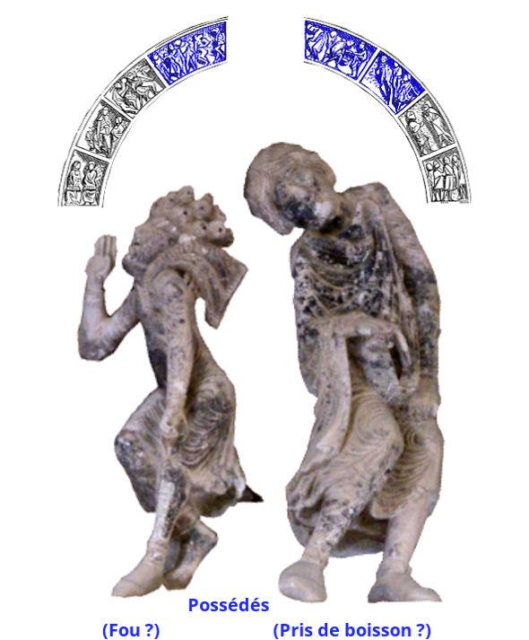 Tympan de Vézelay, fous
