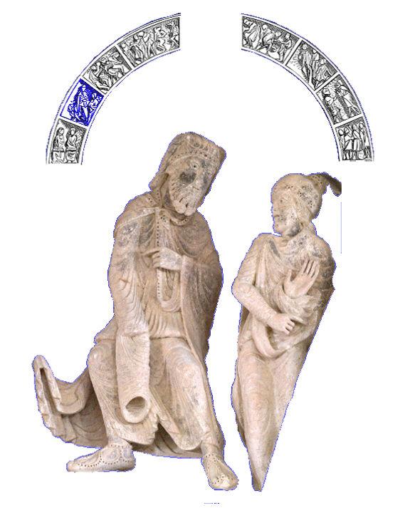 Tympan de Vézelay, Jéroboam et l'ange