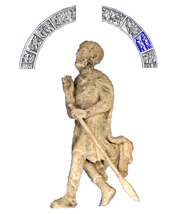 Tympan de Vézelay, un lancier