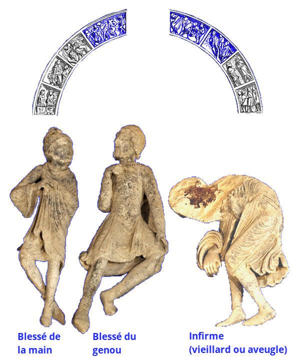Tympan de Vézelay, fous et infirmes
