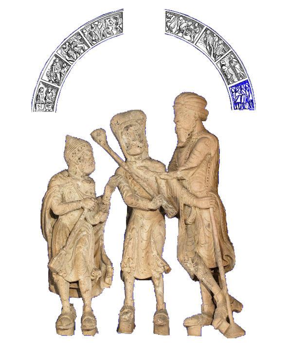 Tympan de Vézelay, peuples convertis