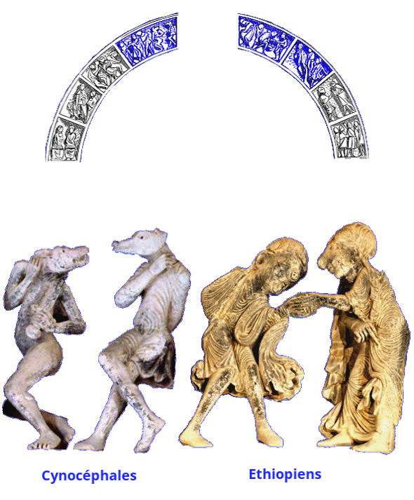Tympan de Vézelay, les peuples exotiques