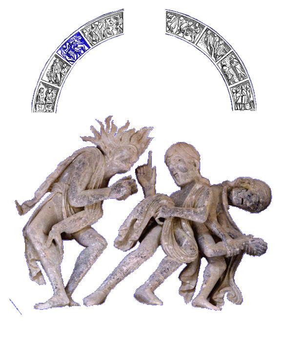 Tympan de Vézelay, possédés