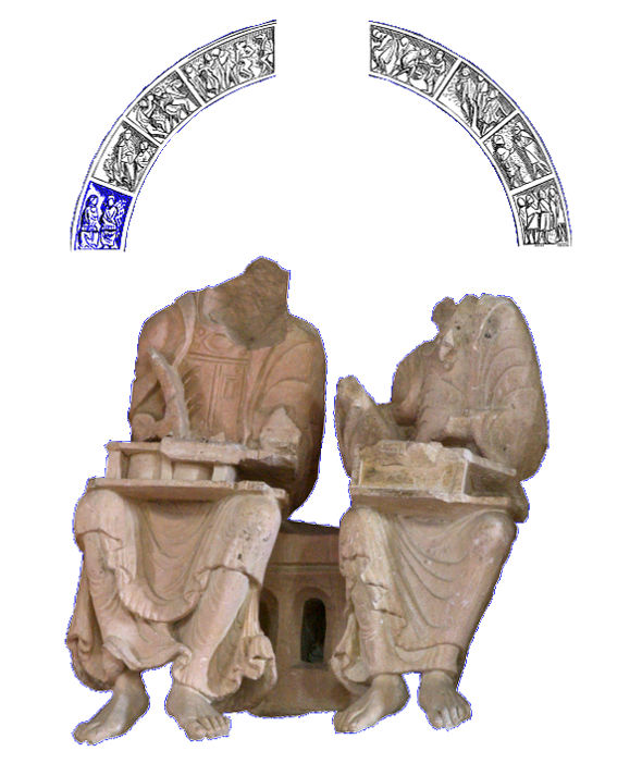 Tympan de Vézelay, scribe et auteur