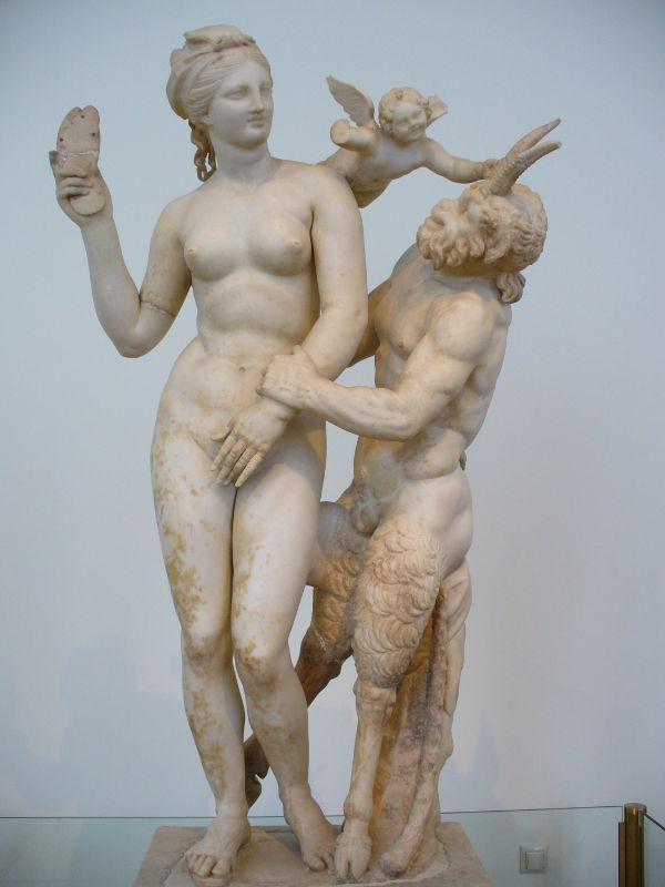 Aphrodite, Éros et Pan