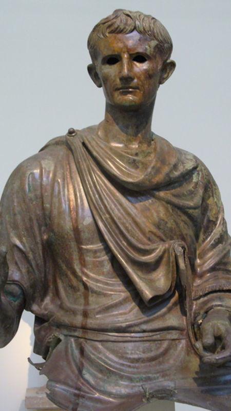 Statue équestre en bronze d'Auguste (fragment)