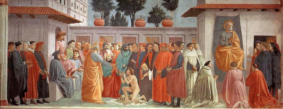 Résurrection du fils de Théophile et saint Pierre en chaire