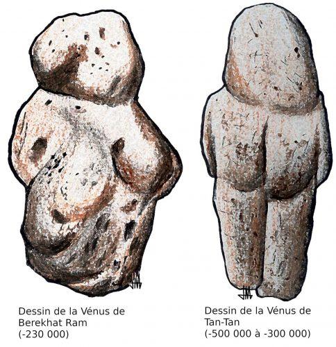 Dessins des dernières Vénus paléolithiques découvertes