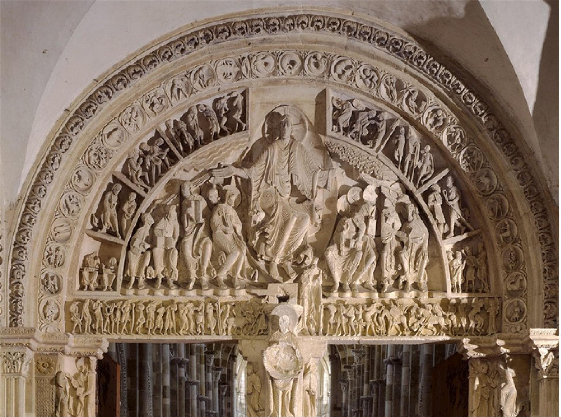 Le tympan de l'abbaye de Vézelay
