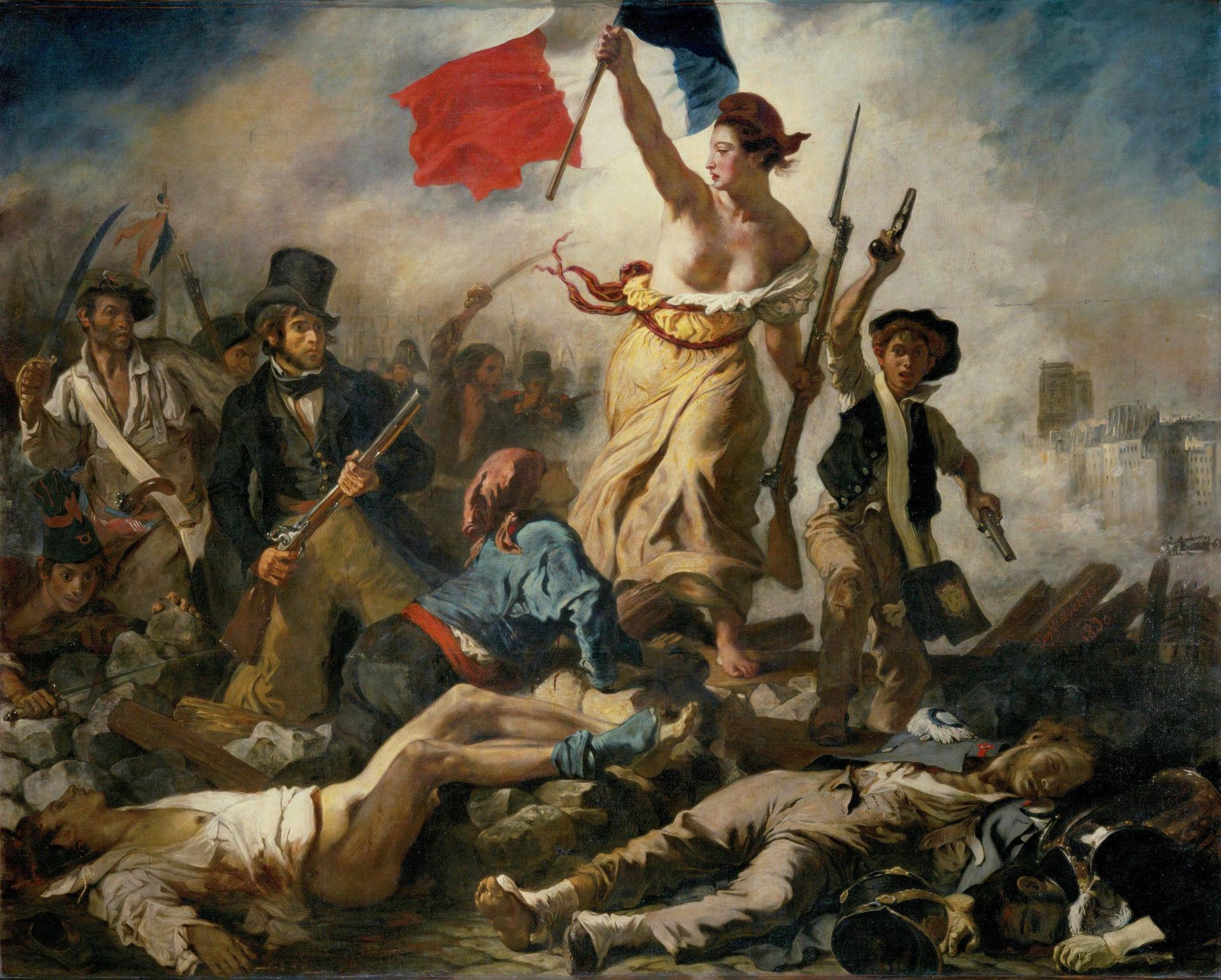 Art et révolution: La liberté guidant le peuple